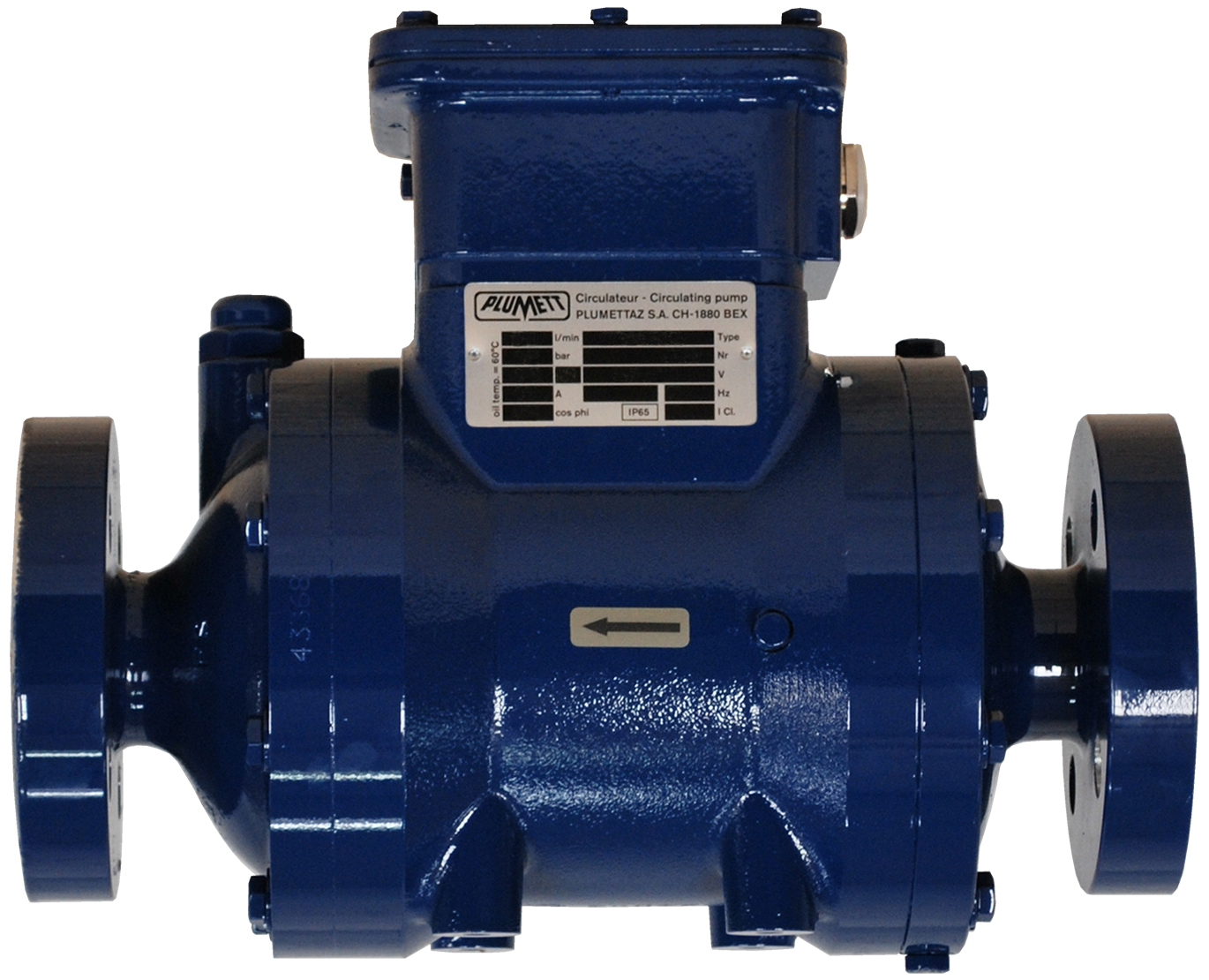 Picture of a blue oil circulating pump